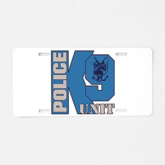 Police K9 Unit Dog Aluminum License Plate