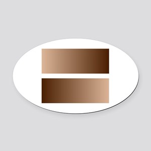 Black White Race Equality Equal Si Oval Car Magnet