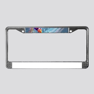Super Crayon Colored Wakeboard License Plate Frame