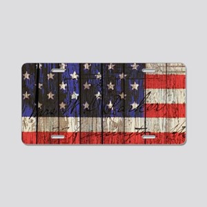 USA flag western country Aluminum License Plate