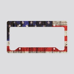 USA flag western country License Plate Holder