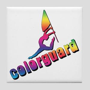 Colorful Colorguard Tile Coaster