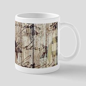 barn wood rustic Americana Mugs