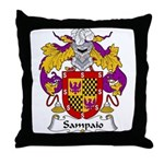 Sampaio Family Crest Throw Pillow