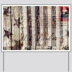 barn wood rustic Americana Yard Sign