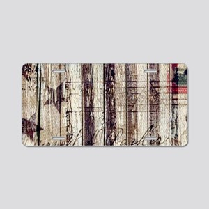 barn wood rustic Americana Aluminum License Plate
