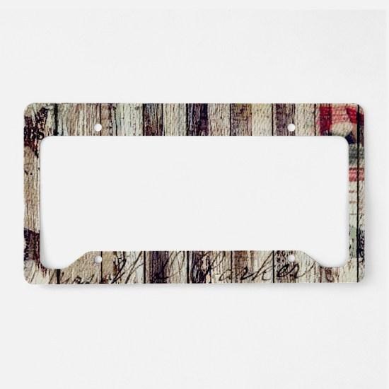 barn wood rustic Americana License Plate Holder