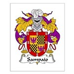 Sampaio Family Crest Small Poster