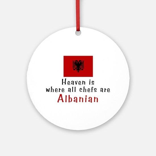 Albanian Chefs Ornament (Round)