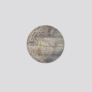 barn wood lace western country Mini Button