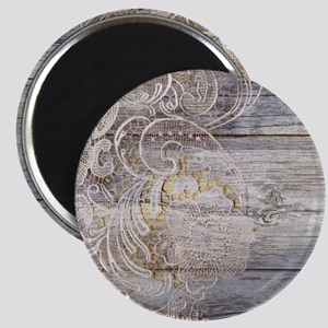barn wood lace western country Magnet