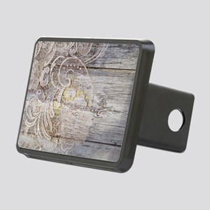 barn wood lace western cou Rectangular Hitch Cover