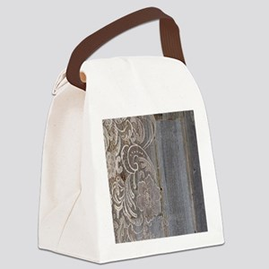 barn wood lace western country Canvas Lunch Bag
