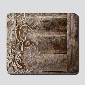barn wood lace western country Mousepad