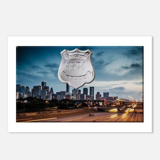 Cute Houston skyline Postcards (Package of 8)