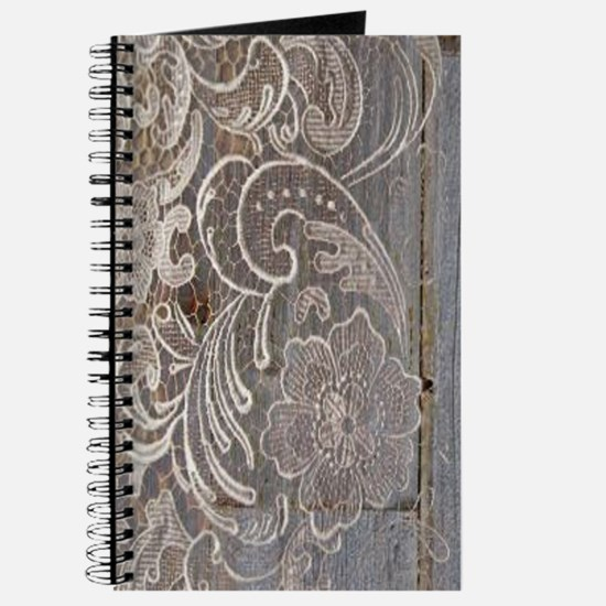 rustic country barn wood lace Journal
