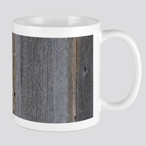 Rustic Country Barn Wood Lace Mugs