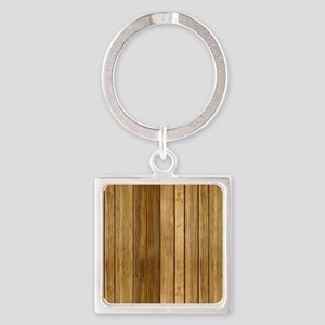 Wood texture patterns  Square Keychain