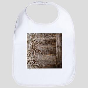 barn wood lace western country Bib