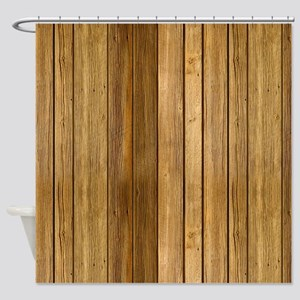 Wood texture patterns Shower Curtain