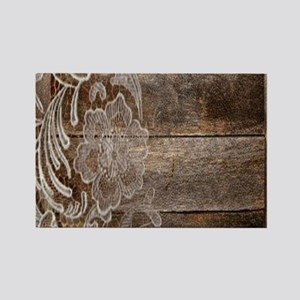 barn wood lace western country Magnets