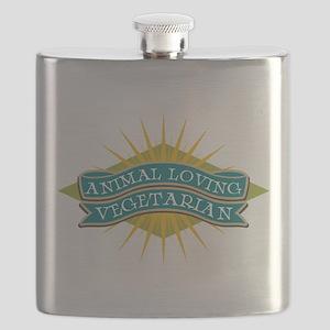 Animal Loving Vegetarian Flask