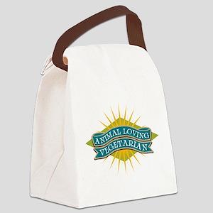 Animal Loving Vegetarian Canvas Lunch Bag