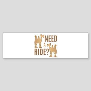 Need A Ride Bumper Sticker