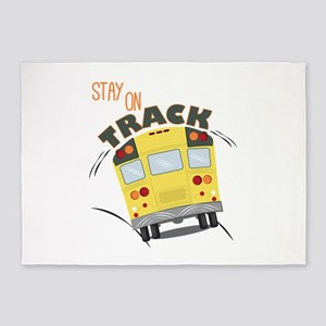 Stay On Track 5'x7'Area Rug
