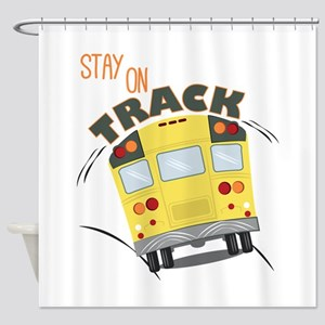 Stay On Track Shower Curtain