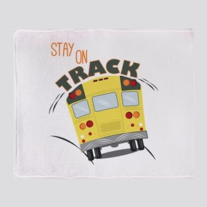 Stay On Track Throw Blanket