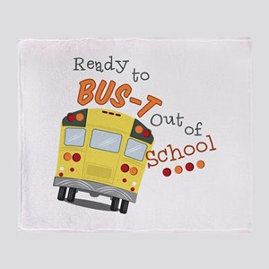 Out Of School Throw Blanket