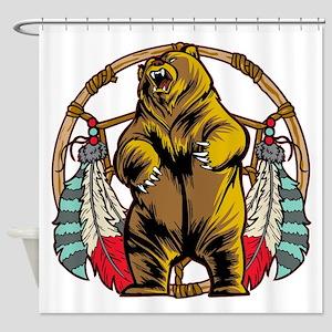 Bear Dream Catcher Shower Curtain