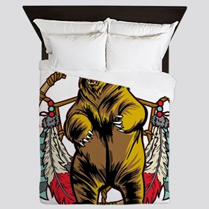 Bear Dream Catcher Queen Duvet