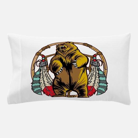 Bear Dream Catcher Pillow Case