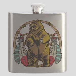 Bear Dream Catcher Flask