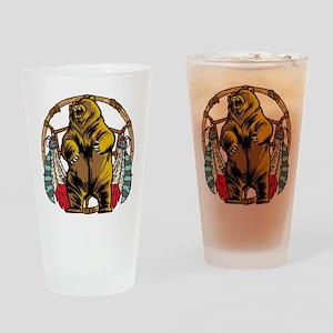 Bear Dream Catcher Drinking Glass