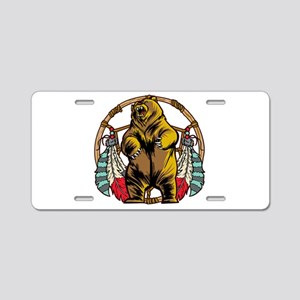 Bear Dream Catcher Aluminum License Plate