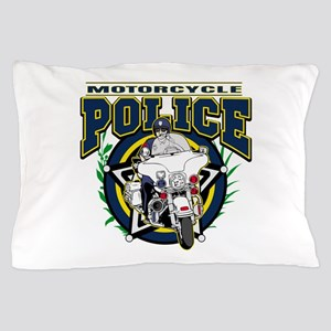 Motorcycle Police Officer Pillow Case