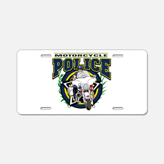Motorcycle Police Officer Aluminum License Plate