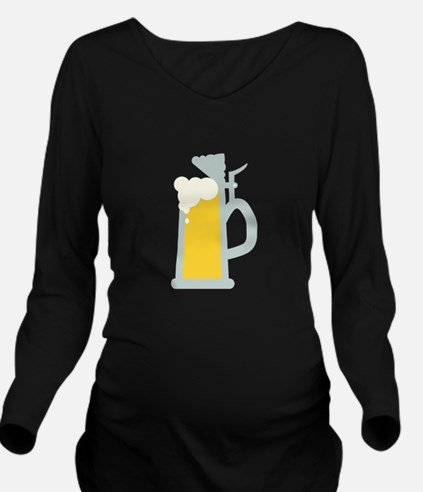 Beer Stein Long Sleeve Maternity T-Shirt