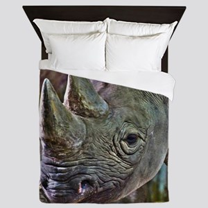 Black Rhino Queen Duvet