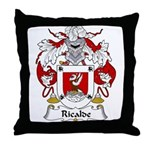 Ricalde Family Crest Throw Pillow