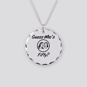 Retro 50th Birthday Necklace Circle Charm