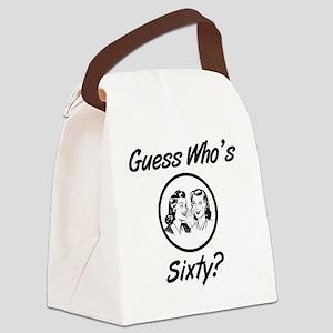 Retro 60th Birthday Canvas Lunch Bag