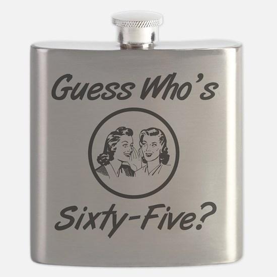 Retro 65th Birthday Flask