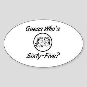 Retro 65th Birthday Sticker (Oval)