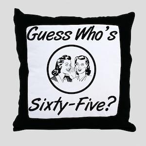Retro 65th Birthday Throw Pillow