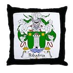Ribafria Family Crest  Throw Pillow