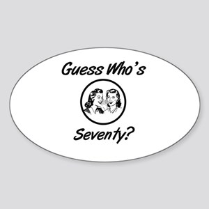 Retro 70th Birthday Sticker (Oval)